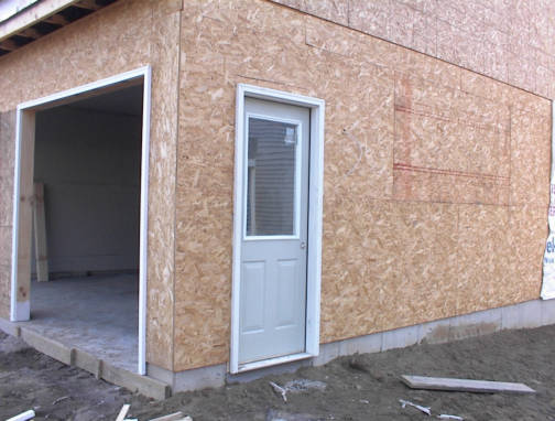The new house for Side entry garage